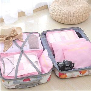 Set of Pink Luggage Organizers